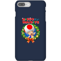 Toad Happy Holidays Phone Case for iPhone and Android - iPhone 8 Plus - Snap Case - Gloss - Happy Gifts