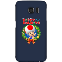 Toad Happy Holidays Phone Case for iPhone and Android - Samsung S6 - Snap Case - Gloss - Happy Gifts