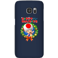Toad Happy Holidays Phone Case for iPhone and Android - Samsung S7 - Snap Case - Gloss - Happy Gifts