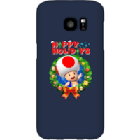 Toad Happy Holidays Phone Case for iPhone and Android - Samsung S7 Edge - Snap Case - Gloss - Happy Gifts