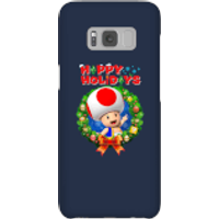 Toad Happy Holidays Phone Case for iPhone and Android - Samsung S8 - Snap Case - Gloss - Happy Gifts