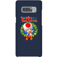 Toad Happy Holidays Phone Case for iPhone and Android - Samsung Note 8 - Snap Case - Gloss - Happy Gifts