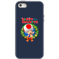 Toad Happy Holidays Phone Case for iPhone and Android - iPhone 5/5s - Tough Case - Gloss - Happy Gifts