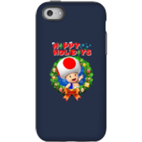 Toad Happy Holidays Phone Case for iPhone and Android - iPhone 5C - Tough Case - Gloss - Happy Gifts