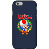 Toad Happy Holidays Phone Case for iPhone and Android - iPhone 6 - Tough Case - Gloss - Happy Gifts