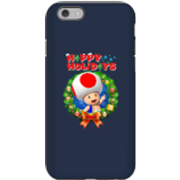 Toad Happy Holidays Phone Case for iPhone and Android - iPhone 6S - Tough Case - Gloss - Happy Gifts