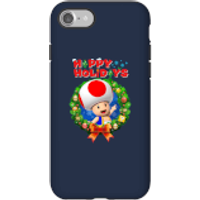 Toad Happy Holidays Phone Case for iPhone and Android - iPhone 7 - Tough Case - Gloss - Happy Gifts