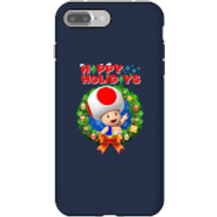 Toad Happy Holidays Phone Case for iPhone and Android - iPhone 7 Plus - Tough Case - Gloss - Happy Gifts