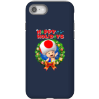 Toad Happy Holidays Phone Case for iPhone and Android - iPhone 8 - Tough Case - Gloss - Happy Gifts