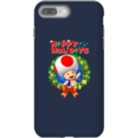 Toad Happy Holidays Phone Case for iPhone and Android - iPhone 8 Plus - Tough Case - Gloss - Happy Gifts