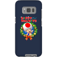 Toad Happy Holidays Phone Case for iPhone and Android - Samsung S8 - Tough Case - Gloss - Happy Gifts