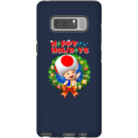 Toad Happy Holidays Phone Case for iPhone and Android - Samsung Note 8 - Tough Case - Gloss - Happy Gifts