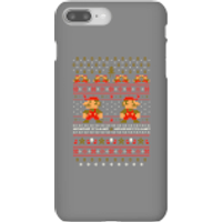 Nintendo Super Mario Mario Ho Ho Ho It's A Me Christmas Phone Case for iPhone and Android - iPhone 8 Plus - Snap Case - Gloss - Christmas Gifts