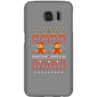 Nintendo Super Mario Mario Ho Ho Ho It's A Me Christmas Phone Case for iPhone and Android - Samsung S6 - Snap Case - Gloss - Christmas Gifts