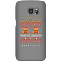 Nintendo Super Mario Mario Ho Ho Ho It's A Me Christmas Phone Case for iPhone and Android - Samsung S7 - Snap Case - Gloss - Christmas Gifts