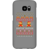 Nintendo Super Mario Mario Ho Ho Ho It's A Me Christmas Phone Case for iPhone and Android - Samsung S7 Edge - Snap Case - Gloss - Christmas Gifts