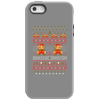 Nintendo Super Mario Mario Ho Ho Ho It's A Me Christmas Phone Case for iPhone and Android - iPhone 5/5s - Tough Case - Gloss - Christmas Gifts
