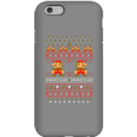 Nintendo Super Mario Mario Ho Ho Ho It's A Me Christmas Phone Case for iPhone and Android - iPhone 6 - Tough Case - Gloss - Christmas Gifts