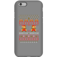 Nintendo Super Mario Mario Ho Ho Ho It's A Me Christmas Phone Case for iPhone and Android - iPhone 6S - Tough Case - Gloss - Christmas Gifts