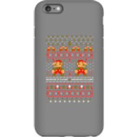 Nintendo Super Mario Mario Ho Ho Ho It's A Me Christmas Phone Case for iPhone and Android - iPhone 6 Plus - Tough Case - Gloss - Christmas Gifts