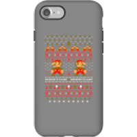 Nintendo Super Mario Mario Ho Ho Ho It's A Me Christmas Phone Case for iPhone and Android - iPhone 7 - Tough Case - Gloss - Christmas Gifts