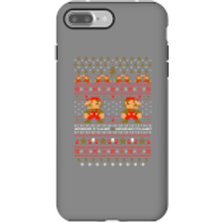 Nintendo Super Mario Mario Ho Ho Ho It's A Me Christmas Phone Case for iPhone and Android - iPhone 7 Plus - Tough Case - Gloss - Christmas Gifts