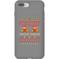 Nintendo Super Mario Mario Ho Ho Ho It's A Me Christmas Phone Case for iPhone and Android - iPhone 8 Plus - Tough Case - Gloss - Christmas Gifts