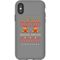 Nintendo Super Mario Mario Ho Ho Ho It's A Me Christmas Phone Case for iPhone and Android - iPhone X - Tough Case - Gloss - Christmas Gifts