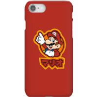Funda móvil Nintendo Super Mario Mario Kanji para iPhone y Android - iPhone 8 - Carcasa rígida - Brillante
