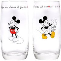 Mickey Mouse Glasses Set of 2 - Mickey Mouse Gifts
