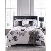 Karl Lagerfeld Senna Floral Duvet Cover - Grey - Super King