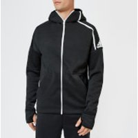 adidas Men's ZNE Free Zip Hoody - Heather/Black - S - Black