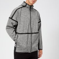 adidas Men's ZNE Reversible Hoody - Storm Heather/Black - S - Grey