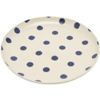 Joules Stoneware Dinner Plate - French Navy Spot