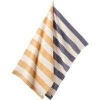 Joules Tea Towels - Navy/Gold Stripe (Set of 2)