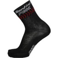 PBK Santini 19 High Profile Cool Max Socks - Black/Red - XS-S