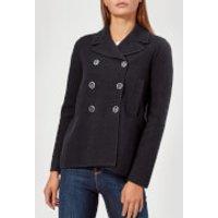 Emporio Armani Womens Short Smart Jacket - Navy - IT 46/UK 1