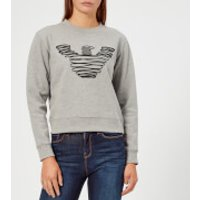 Emporio-Armani-Womens-Eagle-Sweatshirt-Grey-IT-44UK-14-Grey