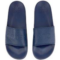 Crosshatch Men's Tulum Sliders - Estate Blue - UK 10 - Blau