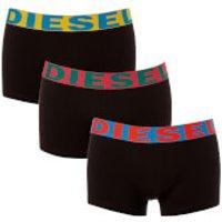 Diesel Men's Shawn Three Pack Boxer Shorts - Black/Multi - M - Black