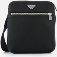 Emporio Armani Mens Small Flat Messenger - Black