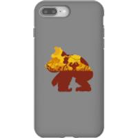 Funda móvil Donkey Kong Silueta Mangrove para iPhone y Android - iPhone 8 Plus - Carcasa doble capa - Brillante