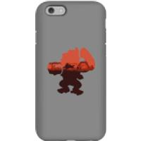 Funda móvil Donkey Kong Silueta Serengeti para iPhone y Android - iPhone 6S - Carcasa doble capa - Mate
