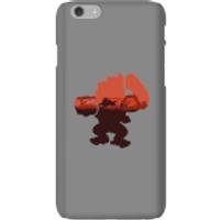Funda móvil Donkey Kong Silueta Serengeti para iPhone y Android - iPhone 6 - Carcasa rígida - Brillante