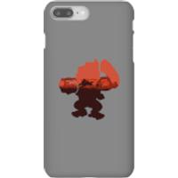 Funda móvil Donkey Kong Silueta Serengeti para iPhone y Android - iPhone 8 Plus - Carcasa rígida - Brillante