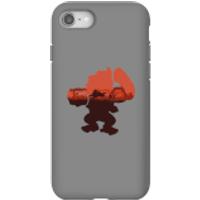 Funda móvil Donkey Kong Silueta Serengeti para iPhone y Android - iPhone 8 - Carcasa doble capa - Brillante