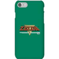 Nintendo The Legend Of Zelda Retro Logo Phone Case - iPhone 7 - Snap Case - Matte