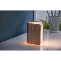 Gingko Mini Smart Book Light - Walnut - Smart Gifts