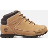 Timberland Men's Euro Sprint Leather Hiker Style Boots - Wheat - UK 10