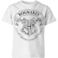 Harry Potter Hogwarts Crest Kids' T-Shirt - White - 5-6 Years - White